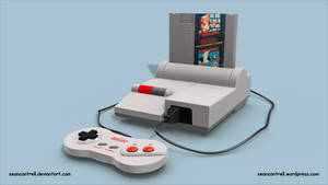 NES 2 System with Game and Controller by seancantrell