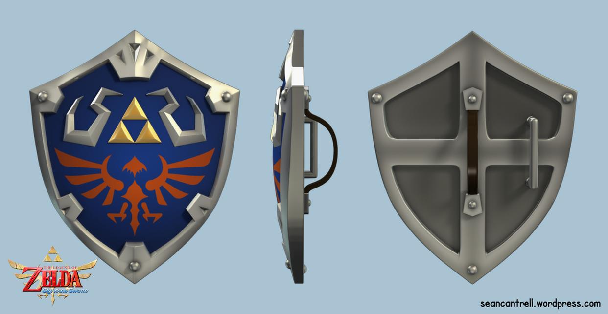 LOZ: Skyward Sword - Hylian Shield by seancantrell