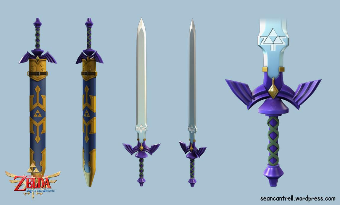 LOZ: Skyward Sword - True Master Sword by seancantrell