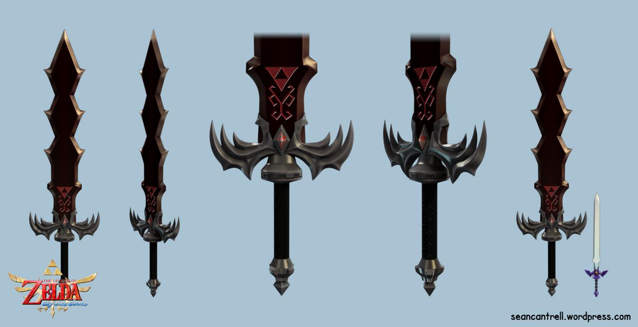LOZ: Skyward Sword - Demise's Sword by seancantrell