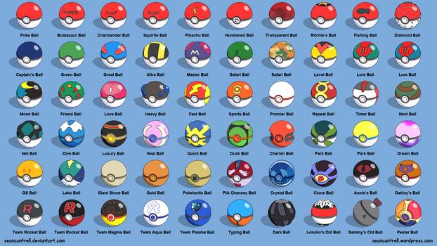 All Poke Balls - Labeled