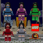 Lego Mortal Kombat Minifigures - Female Ninja