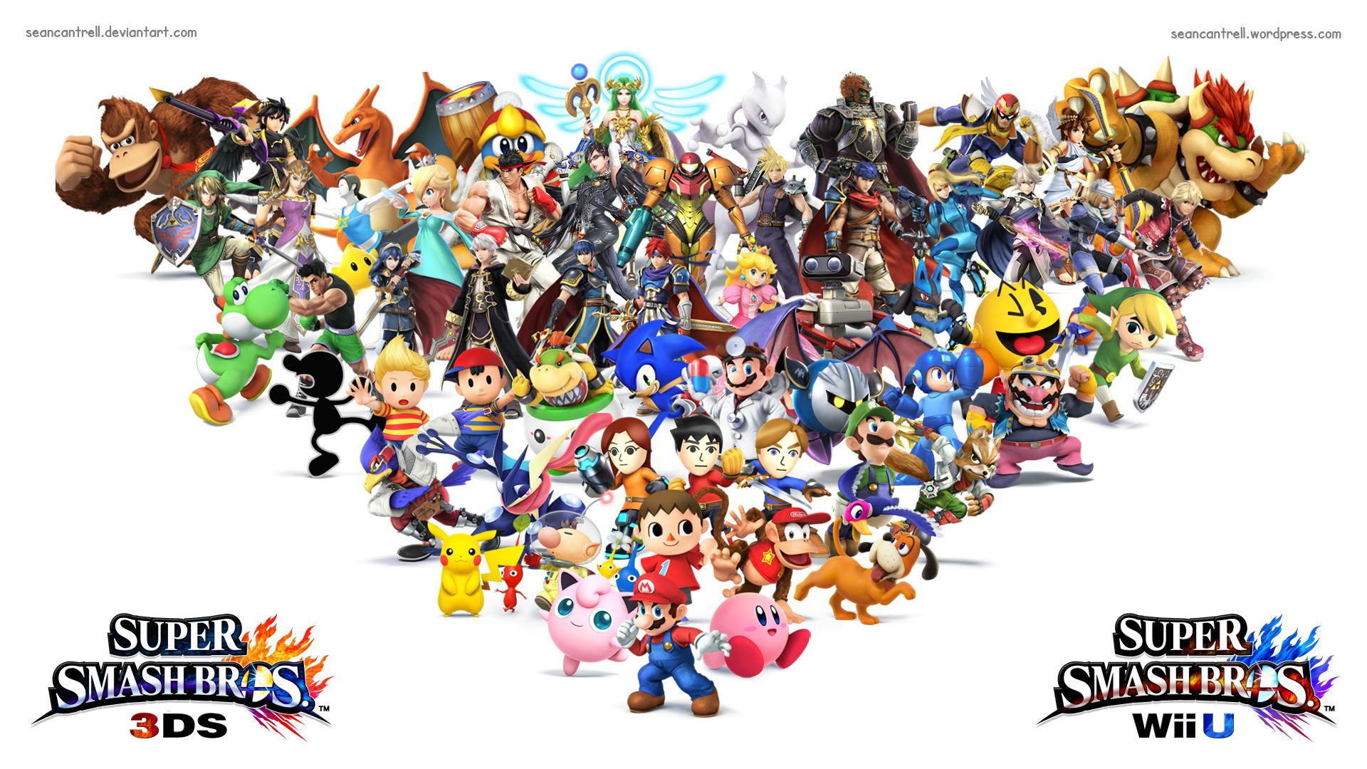 Smash Bros Wii U : Super smash bros wii u ds wallpaper by seancantrell on
