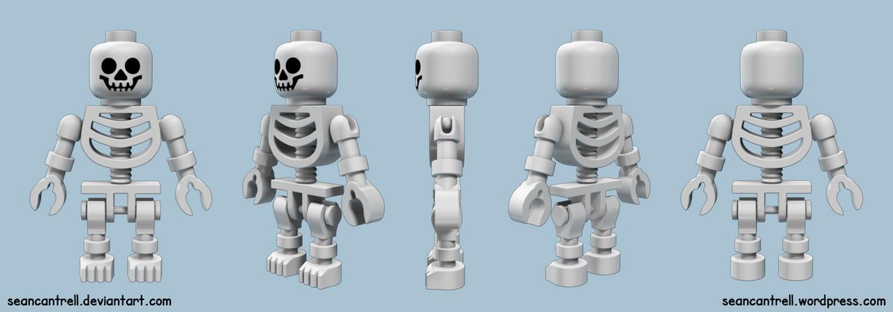 Lego Skeleton Minifigure by seancantrell on DeviantArt