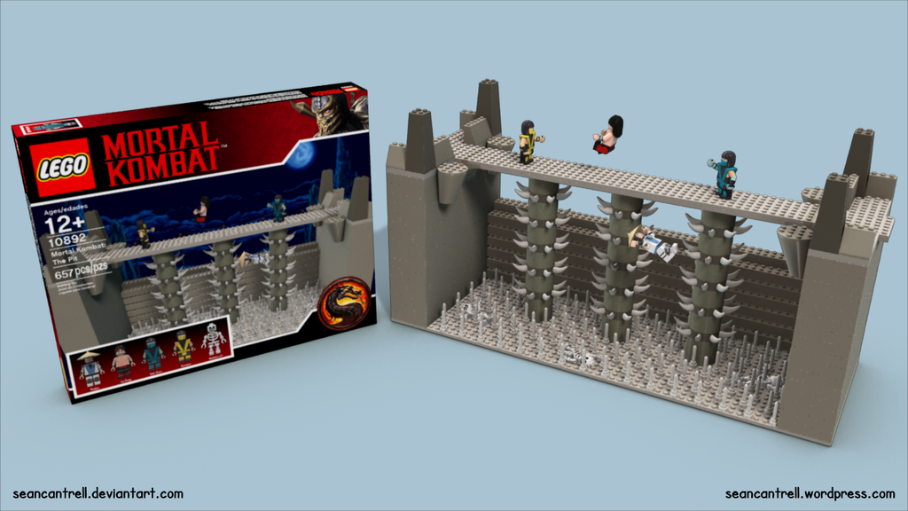 Lego Mortal Kombat The Pit Set by seancantrell