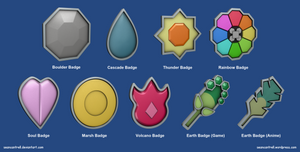 Pokemon Badges - Indigo League