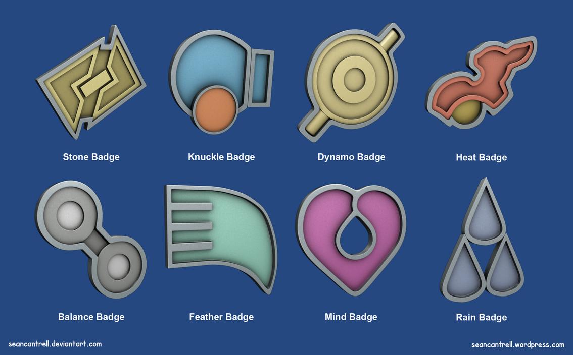 pokemon badges hoenn league by seancantrell on deviantart