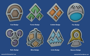 Pokemon Badges - Sinnoh League by seancantrell