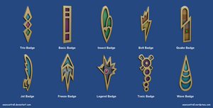 Pokemon Badges - Unova League by seancantrell