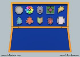 Pokemon Gary's Badges by seancantrell