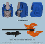 Orion Pax Head and Weapons Models
