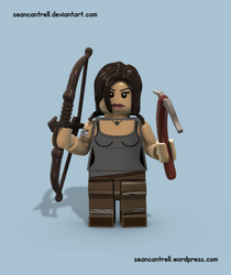 Lego Lara Croft - Tomb Raider by seancantrell