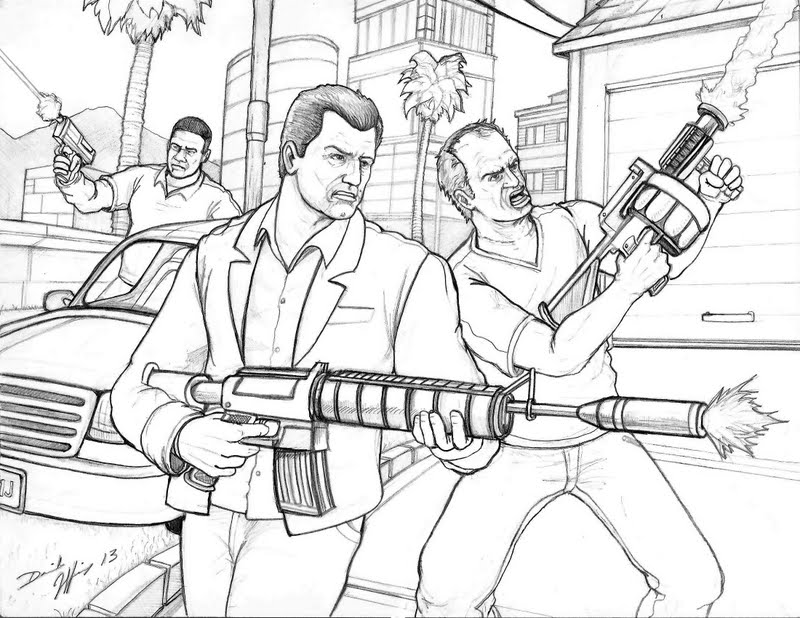 grand theft auto coloring pages 6 coloring pages Classic Muscle Car Coloring Pages  Grand Theft Auto Coloring Pictures