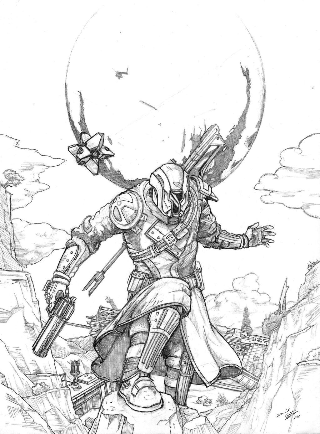 destiny characters hunter coloring pages - photo#15