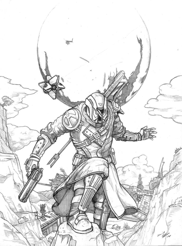 destiny characters hunter coloring pages - photo#10