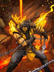 Scorpion Mortal Kombat X by Daniel-Jeffries