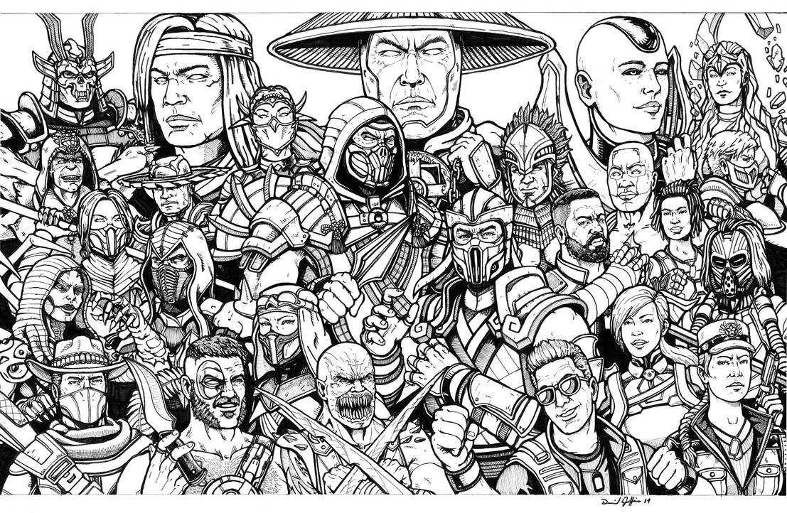 Mortal Kombat 11 lines by Daniel-Jeffries
