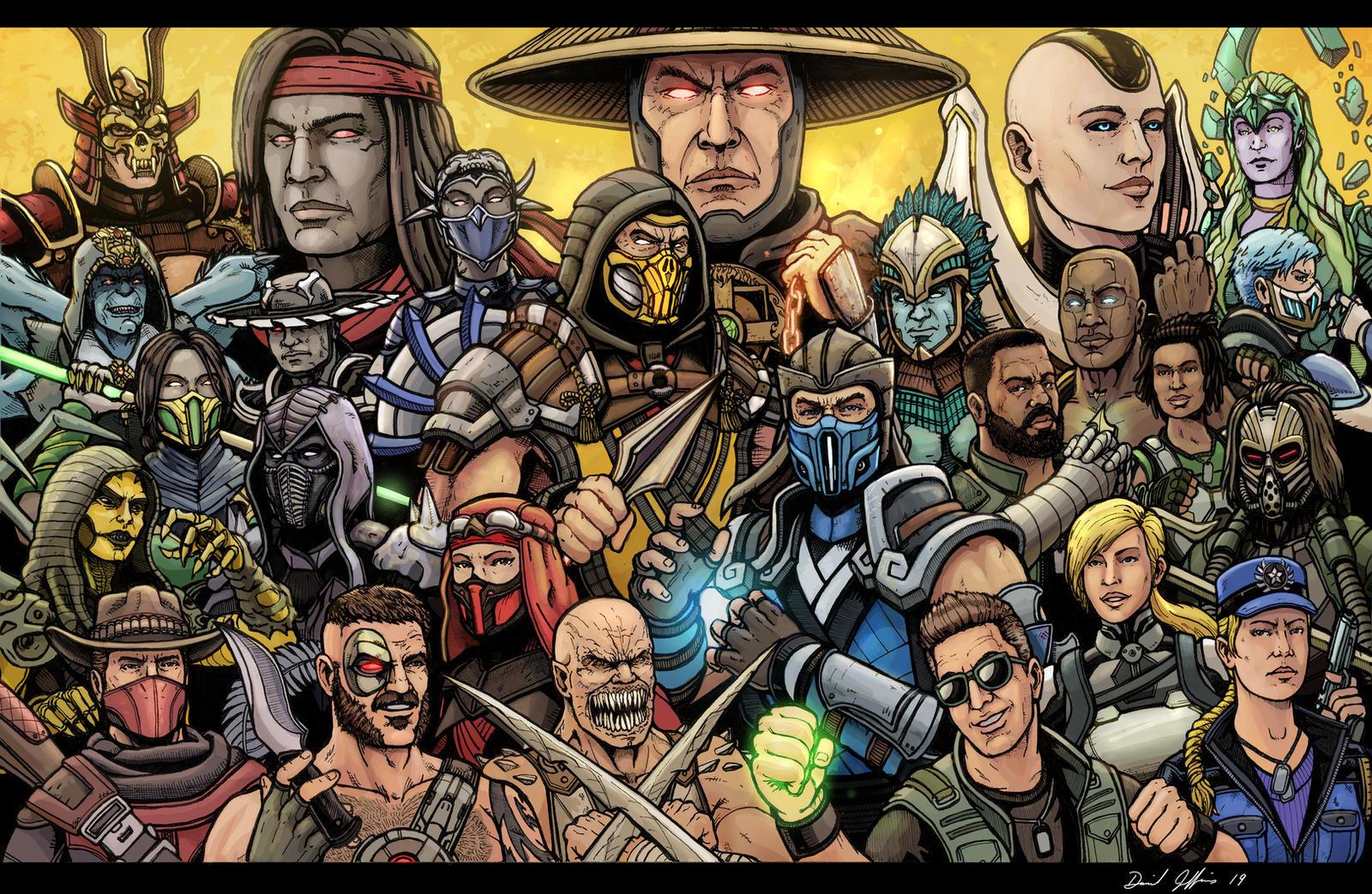 Mortal Kombat - Vs Screen (MKX version) Fan art by