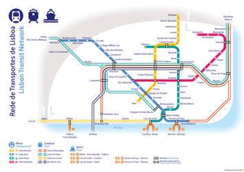 Lisbon Transit Network by fredericofrancisco