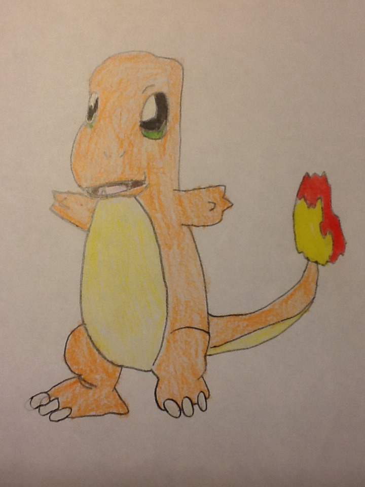 An old Charmander drawing by HispanicOrca