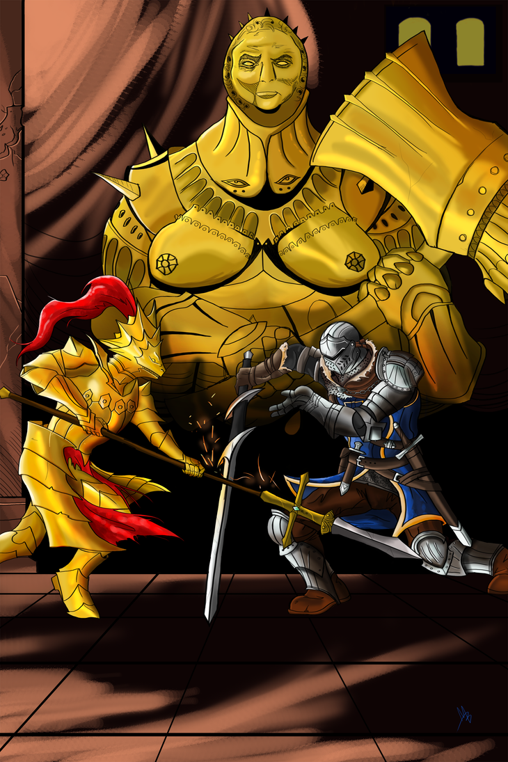 Battle at Anor Londo by Billyib