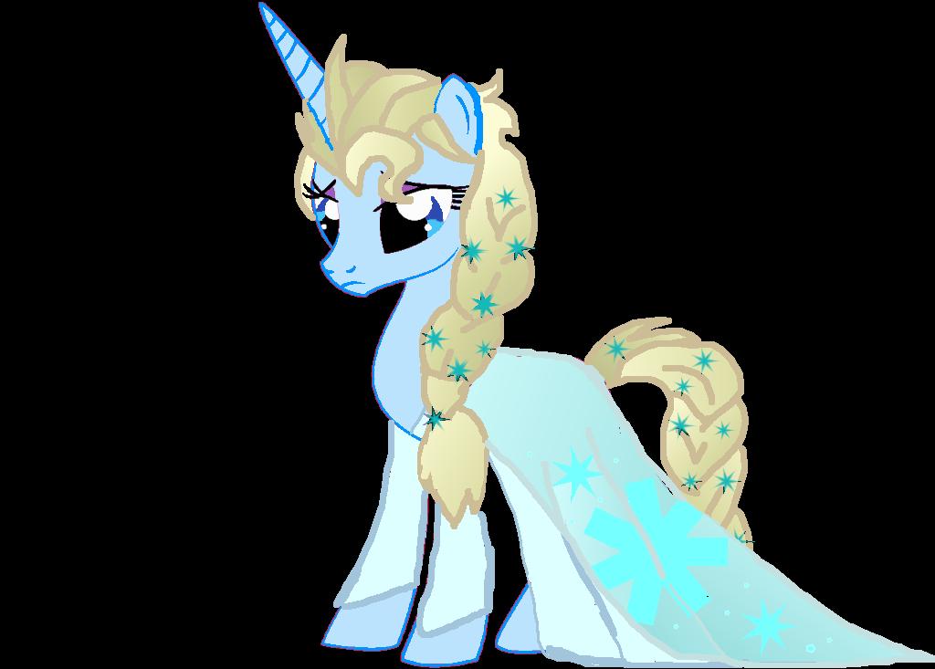 Elsa As A Pony by superpony25 on DeviantArt