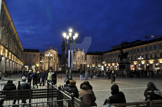 Piazza S.Carlo Blue Hour I