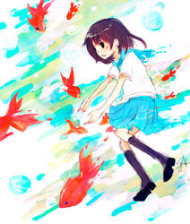 fishes in the sky by LoveSoup