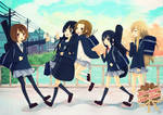 k-on: afternoon walk by LoveSoup