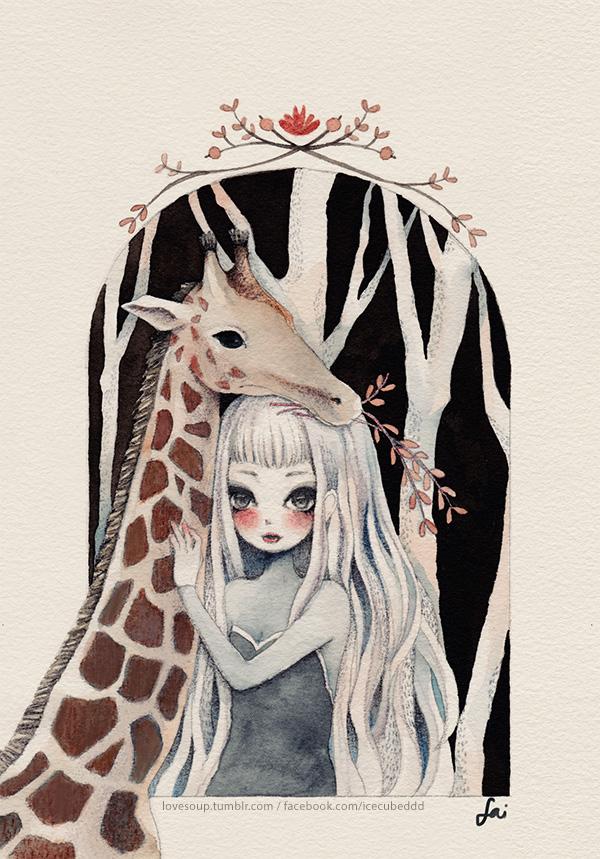 0519 giraffe by LoveSoup
