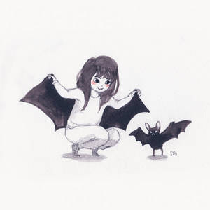 Inktober 7/31 - bat