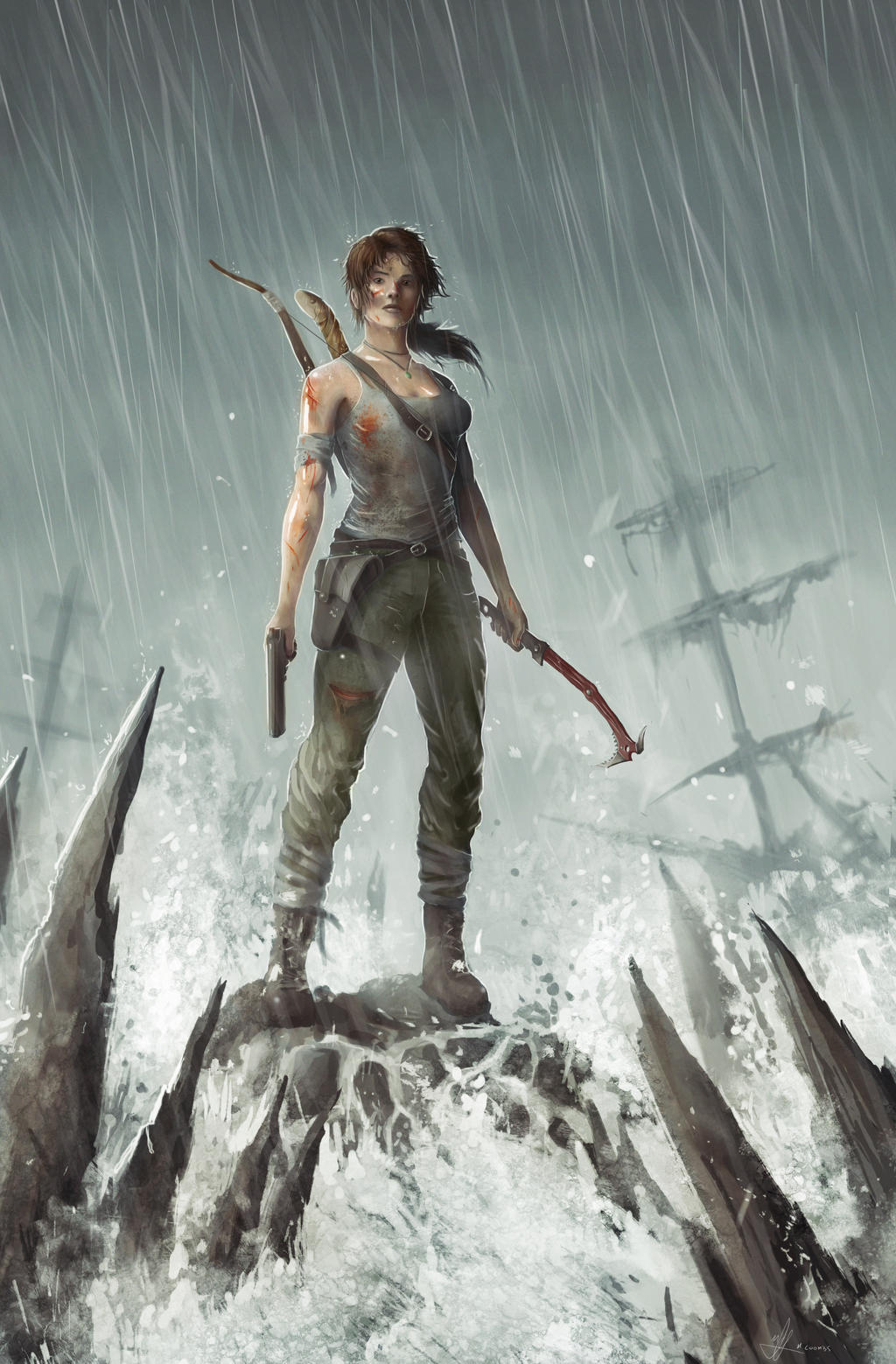 Tomb Raider Reborn - Lara Croft by MikeCoombsArt