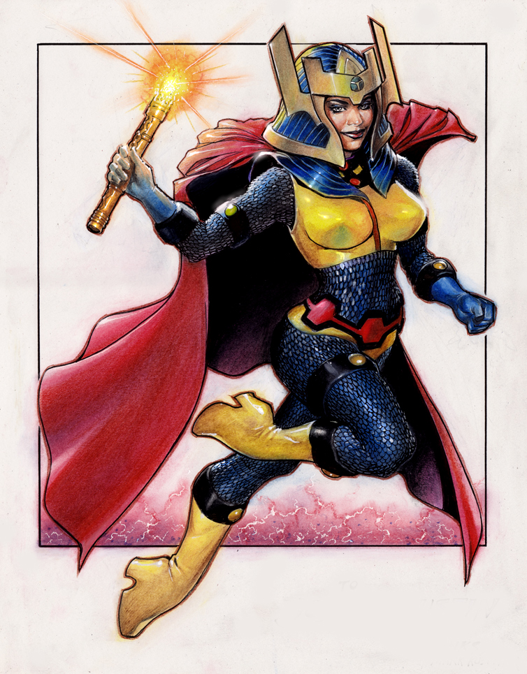 Big Barda by Reverie-drawingly