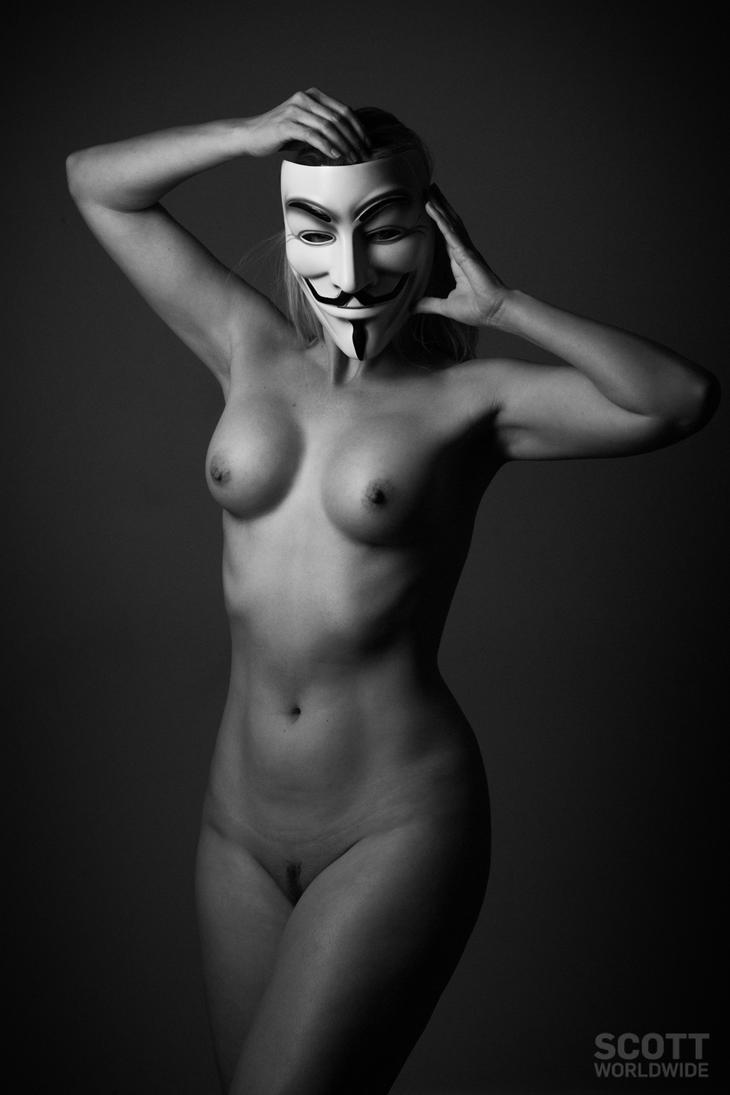 Anonymous with Julie Marie by Scottworldwide