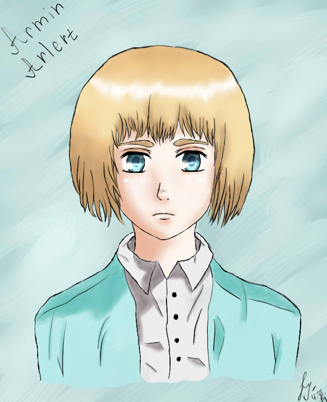 Armin Arlert. Attack on titan by sofiglushenko