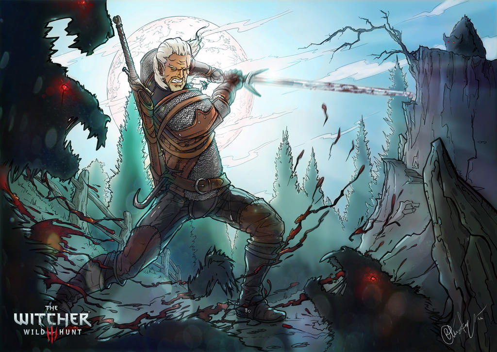 Geralt Of Rivia By CrowtherLindeque On