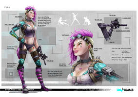 Falka - Character Concept by CrowtherLindeque
