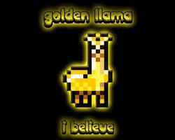 I Believe In Golden Llama