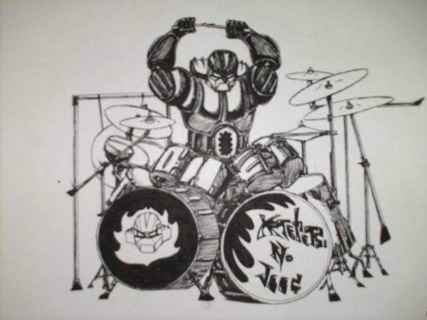 JEEG robot drummer by Lunkface89