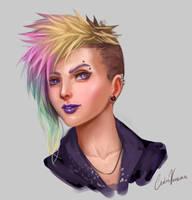 Portrait color practice by CarlosVasseur