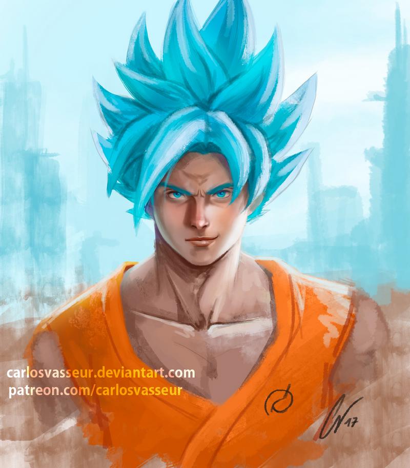 Goku Super Saiyan Blue by CarlosVasseur