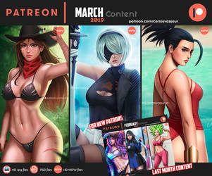 Patreon March 2019 Summary by CarlosVasseur