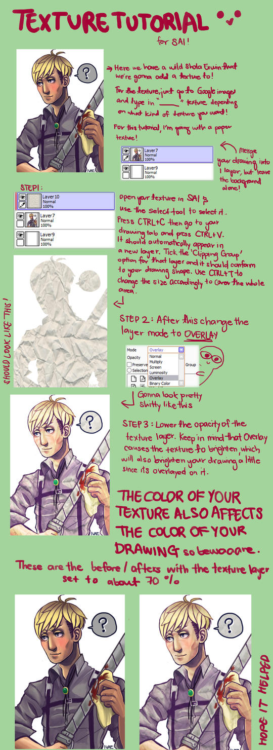 Quick Texture tutorial for SAI by CrypticHelium