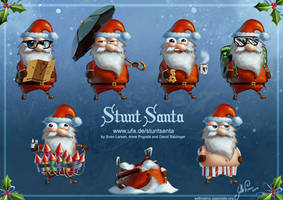Stunt Santa production art by SethNemo