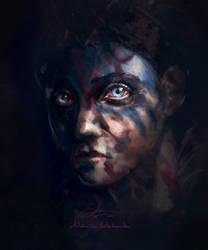 Hellblade Fanart - Senua Portrait Sketch by SethNemo