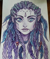 Night Elf in Watercolor by Wipaige