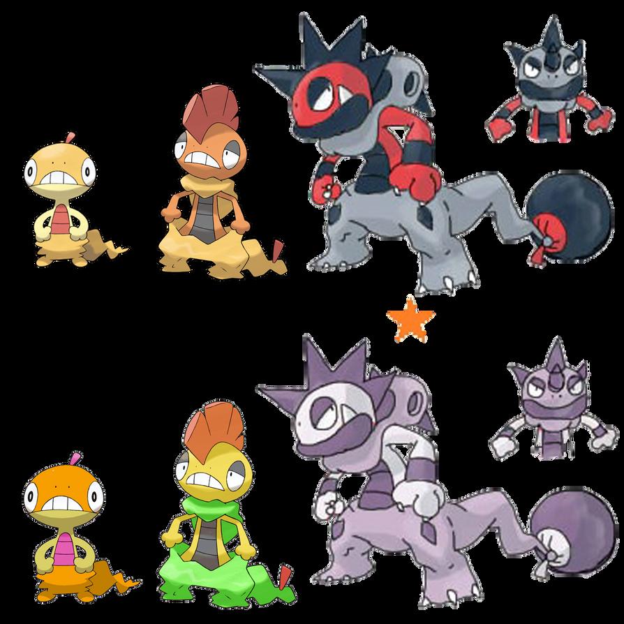 Scraggy Evolution by Midna-Saldana