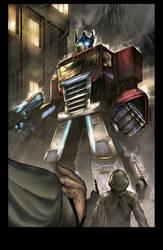 optimus prime by knotlikeyou2