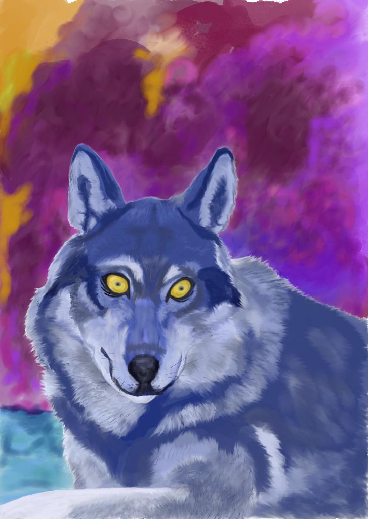 Blue Wolf by strigoaika