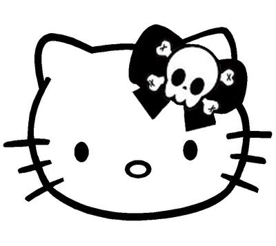 Hello Kitty skull tattoo by Tjelsi on DeviantArt
